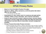 cpuc privacy rules