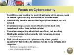focus on cybersecurity