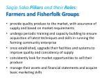 sagip saka pillars and their roles farmers and fisherfolk groups