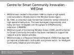 centre for smart community innovation wednet