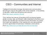csci communities and internet