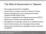 the role of government in telecom