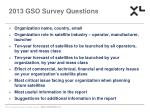 2013 gso survey questions