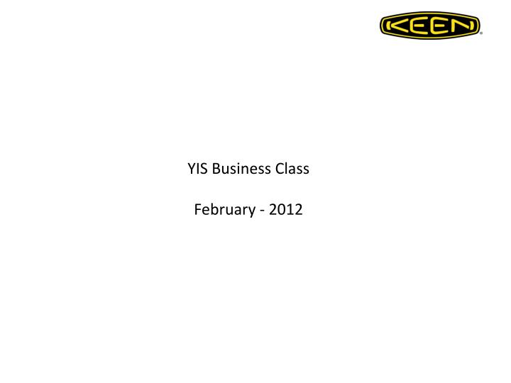 yis business class february 2012 n.