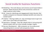 s ocial media for business functions