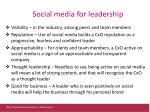 social media for leadership