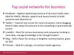 top social networks for business