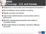 imsn coverage u s and canada