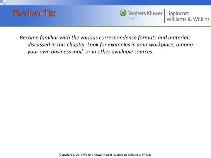 Review tip