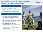 we focus on future business mobility example 3 making cars cleaner