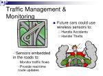 traffic management monitoring