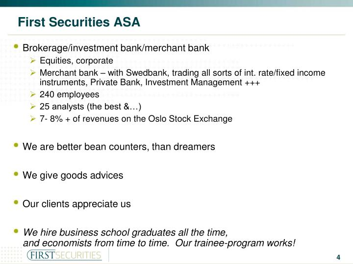 First Securities ASA