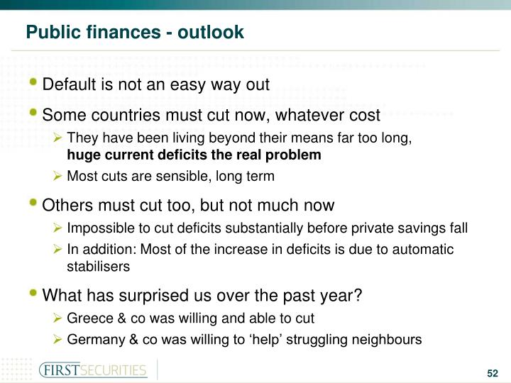 Public finances - outlook