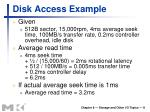 disk access example