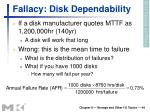 fallacy disk dependability