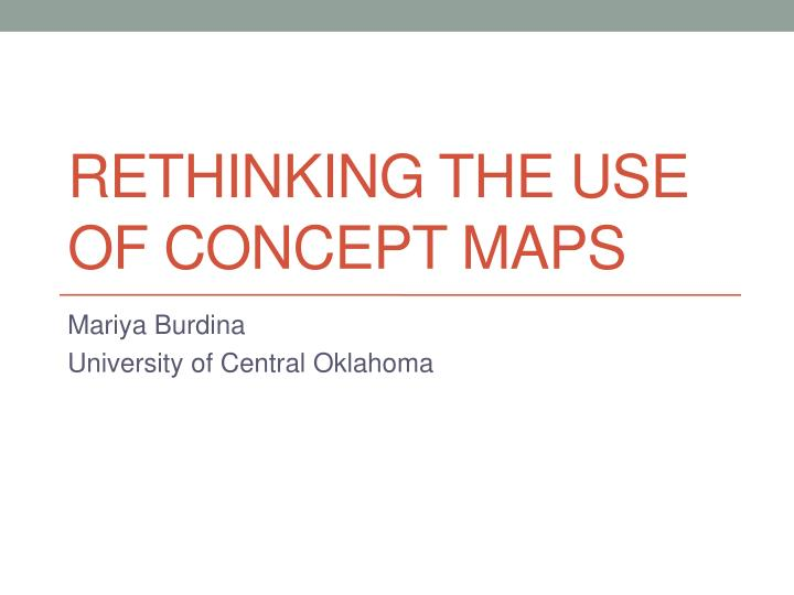 rethinking the use of concept maps n.