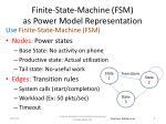 finite state machine fsm as power model representation