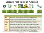 storage partitions on android