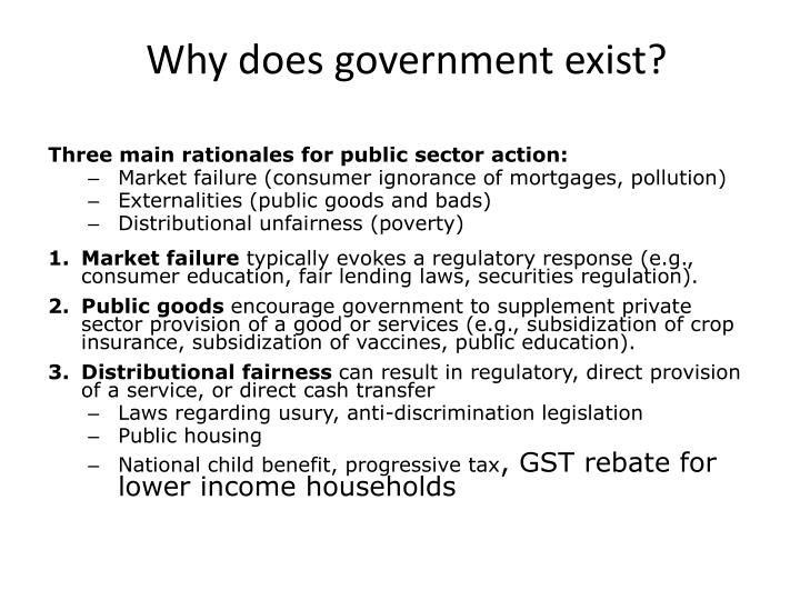 why does government exist n.