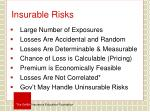 insurable risks