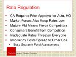 rate regulation
