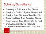 solvency surveillance