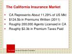 the california insurance market