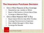 the insurance purchase decision