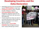 developing countries and the doha declaration