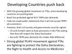 developing countries push back