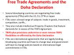 free trade agreements and the doha declaration