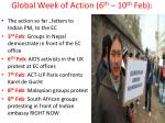 global week of action 6 th 10 th feb