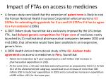 impact of ftas on access to medicines