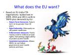 what does the eu want
