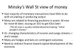 minsky s wall st view of money