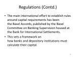 regulations contd