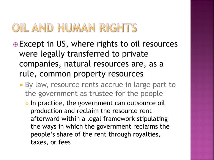 oil and human rights