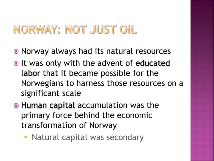 norway: not just oil