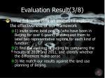evaluation result 3 8