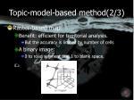 topic model based method 2 3
