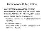 commonwealth legislation