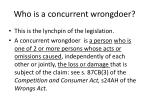 who is a concurrent wrongdoer