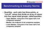 benchmarking industry norms