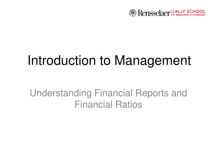introduction to management n.