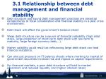3 1 relationship between debt management and financial stability