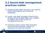 3 2 sound debt management practices matter