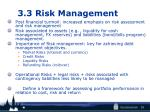 3 3 risk management