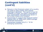 contingent liabilities cont d