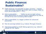 public finance sustainable