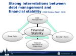 strong interrelations between debt management and financial stability dnb working paper 2010